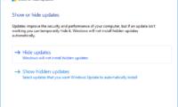 Jak tymczasowo zablokować instalację poprawki lub sterownika w systemie Windows 10 ?