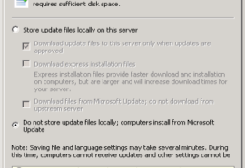 WSUS –  Cannot save configuration because the server is still processing…
